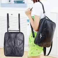 Fashion BackPacks Black sheep skin genuine leather Shoulder bag for women lady school totes satchel goatskin casual Chest Bags