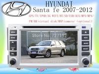 Hyundai Santa fe with Russian MEMU  GPS radio BT TV iPod AM/FM 4gb map camera Free Shipping