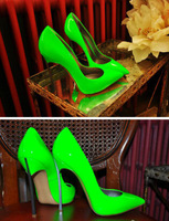 2014 popular stiletto thin heels Blade pumps wedding dress shoe Patent Leather pointed patent leather wedge