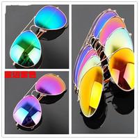 Aviator Sunglasses Vintage Eyeglasses glasses Women Men brand designer Sunglasses Purple Red Blue Green  Mirror lens
