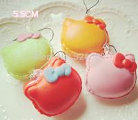 squishies wholesale 32pcs new squishy mixed Colors macaroon kawaii Squishy hello kitty squishy for Phone Chain Free Shipping