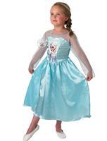 2014 frozen Dress Custom made Movie Cosplay Dress Summer Girl Dress Frozen Princess Elsa Costume for Children grade quality