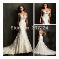 IN1277 INFINITE 2014 new design sexy sleeveless sweetheart beaded lace mermaid wedding dresses