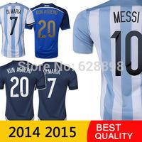 Argentina Jersey 2014 World Cup Home Soccer Jersey Argentina Away Football T Shirt Uniforms Futbol MESSI AGUERO Player Version
