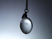1Pc 24x17MM Dandelion Seed Necklace,Necklace, Glass Cabochon Necklace, Glass Dome Necklace,Wire Wrapped Pendant