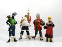 2014  Naruto Action Figures PVC 13CM Cool Kakashi/Jiraiya/Naruto  Collections Toys High Quality Best Gift Free Shipping
