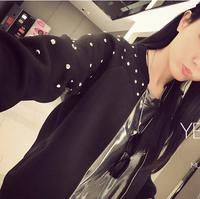 jaquetas femininas 2014  new female motorcycle jacket rivet Korean Slim thin coat jackets women casacos femininos