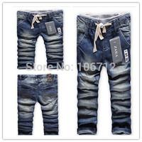 Retail 2014 HOT NEW High quality zar6808a 2-10 years fashion cotton denim BOYS jeans children's kids BOYS long pants trousers