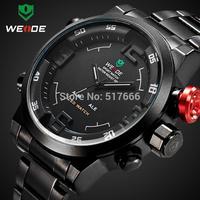 Men Watch New WEIDE Sports Military Watch 3ATM Dual Time LED Digital Analog Quartz Wristwatches 6 Colors Watch Dropship 2309