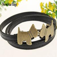Women's dog buckle adjustable strap thin belt H052E