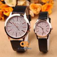 quality luxury casual top lovers' brand watch leather couple quartz best gift for women men Free Shipping