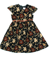 Free shipping nova kids wear new 2014 baby wear girls' fashion floral baby dress girls autumn summer dresses