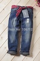 Retail High quality zar8869a 2-10 years fashion cotton denim girls jeans children's kids girls long pants pants baby trousers