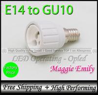 10pcs 9.98USD per lot free shipping - E14 to GU10 holder converter for gu10 socket led bulb