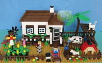 ORIGINAL PACKING BLOCKS!!!New Designed Educational Toys for children DIY ABS building blocks Happy Farm 483pcs