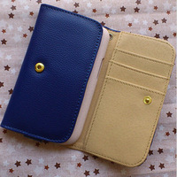 top quality, fashionable design, universal 4.5 inch leather leather case, wallet case, flip cover, free shipping
