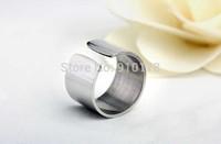 Korean stainless steel open adjustable finger rings titanium steel ring fashion movie jewelry