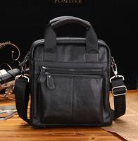 Free shipping    men's   genuine leather   handbag  shoulder  bag    handbag  messenger  bag