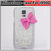 Bling Rhinestone Bowknot Bow Sequins back case For Samsung Galaxy S5 i9600,Free shipping