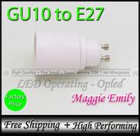 10pcs 12.08USD per lot free shipping - GU10 to E27 converter holder, gu10 holder for E27 led bulb light lamp