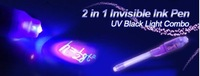 Bestselling Four colors invisible Pen ink With Built-In Ultra Violet Light,Secret Message Pen ,fast delivery by DHL