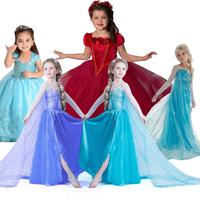 New 2014 girl frozen dress, vestidos de menina, anna elsa summer dress 2014 Free Shipping