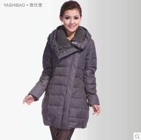 2014 Winter Thicken Warm Woman Down Jacket Parka Plus Size 5XXXXXL Slim Luxury Brand Long Hooded Casual Overcoat Coat Free