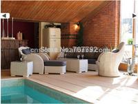 2014 New design PE Rattan Outdoor Garden 3 Seater Sofa Suite & Arc-Shaped Chair