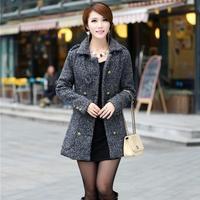 2014 New Fashion British Style Autumn Winter Women Warm Wool Slim Outerwear Trench Coats / Graceful Female Overcoat