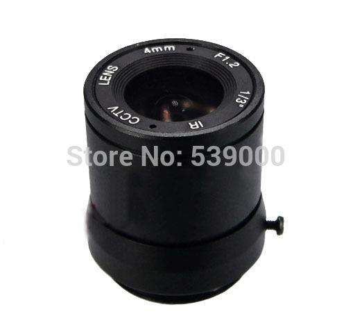 "Free shipping 1/3"" F1.2 CCTV Lens Fixed Iris IR Infrared 4mm CS Lens For Camera 1350(China (Mainland))"