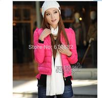 Women short design jacket Cotton-padded jacket female Thin wadded jacket outwear CL 684