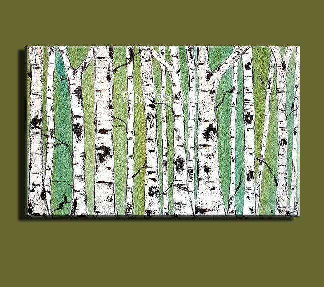 Grande da parede da lona moderna art big artesanal decorativo branco ramo de árvore pintura a óleo sobre tela para decoração de(China (Mainland))