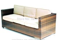 2014 Hot Sale Garden 3 Seater Rattan Wicker Outdoor Sectional Sofa Set Grey