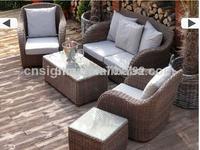 2014 Hot Sale Design Rattan Outdoor Rattan Outdoor 5pcs Sofa Set Suite