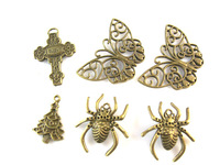 60pcs Mixed Silver Plated Butterfly Charms Pendants for Jewelry Making DIY Floating Locket Charm Handmade styles
