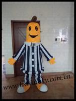 2014 adult fur bananas in pajamas mascot costume
