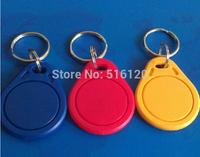 Free Shipping (10 Pcs) 13.56Mhz RFID Keyfobs IC Key Ring Keychains Tags Token NFC 1K S50 Tag