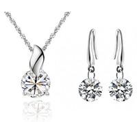 2014 Newest 18K White Gold Plated Zircon Fashion Jewelry Set Free Shipping