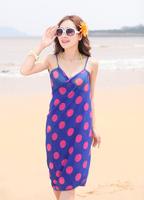 2013 New Saress Bikini Wrap Dress Women's Sarong Swim cover-ups Cross Beach dress Wave point