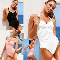 New 2014 VS 5 Colors Deep V Neck Strappy Slim Swimsuit Sexy Swim Suits Women Bathing Suit Maillot De Bain One Piece Swimwear