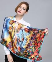 Fashion Woman 100% Silk Scarf Girl's Shawl Wrap Stole Lady Neckerchief S05072