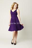 2014 New Arrival Free-Shipping  Sleeveless Cute Bridesmaid Dresses 2014 bridesmaid dresses