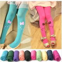 8 pcs/lot Baby girl child kids pantyhose stocking velvet cat print dance legging  FREE SHIPPING