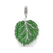 Горячая распродажа мода европейский серебро 925 чистый и свежий и зеленый лист шарм ...
