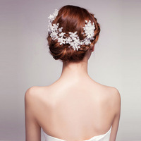 korean style bride fashion up-do necessary Hairwear married bride sweet forehead decoration accessories Free shipping