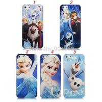 Hot item 3D Cartoon Movie Frozen Princess Elsa Anna Lovely Snow Man Olaf Hard Plastic Case Cover For iPhone 4 4s 5 5g 5s 5c