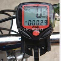 Free Shipping S548B Waterproof LCD Bicycle Computer Display Bike Odometer Speedometer 16 Functions + Wholesale, LC1-RD