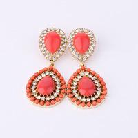 2014 New Styles Fashion Luxury Elegant Vintage Palace Orange Dangle Earring For Women