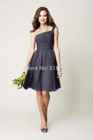 2014 New Arrival Free-Shipping  Sleeveless Cute Bridesmaid Dresses short bridesmaid dress