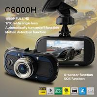 6000D Car Mirror Camera HD 1080P Night Vision Car DVR Novatek 96650 with G-sensor Motion Detection Rearview Camera Recorder